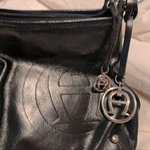 Vintage Etienne Aigner Black Leather Shoulder Bag